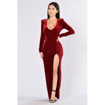 N293 sexy velvet dress