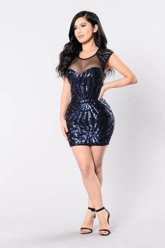 N291 sexy sequin dress