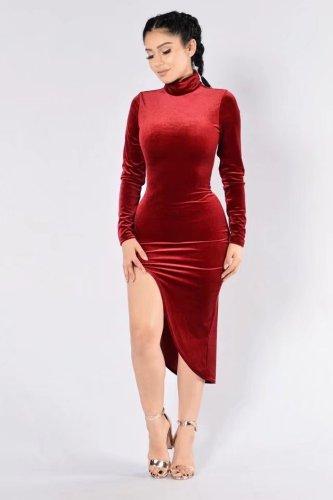 N294 sexy velvet dress
