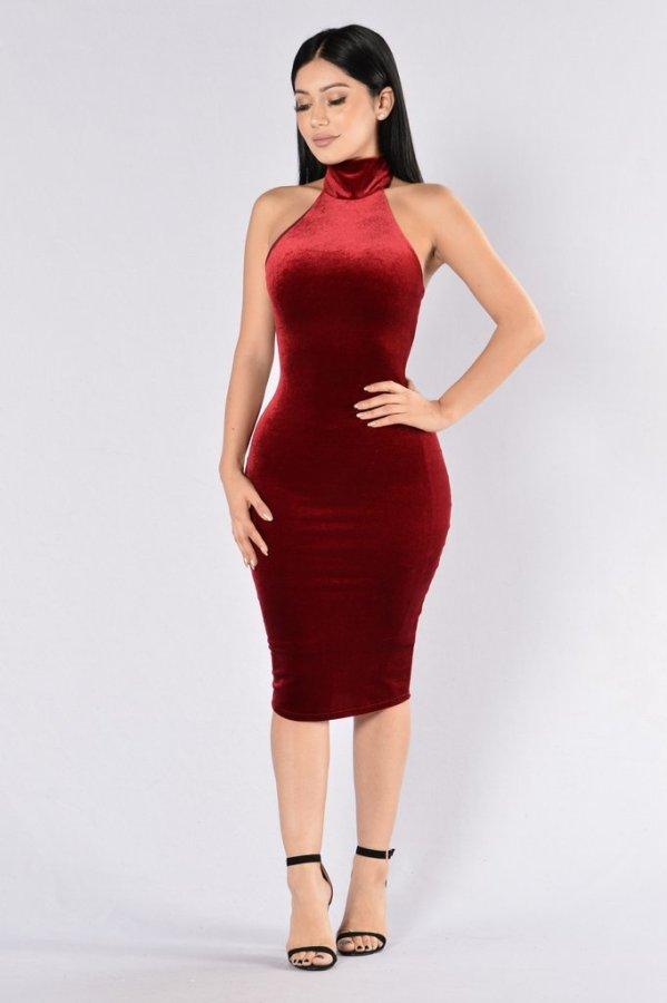N297 sexy velvet dresses