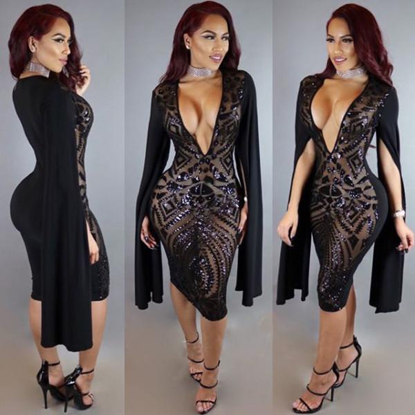 N303 sexy sequin dress