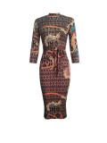 9076 women long sleeve bodycon dress