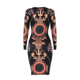 2357-2 women hot sell Multicolor printed dresses