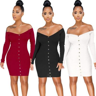 2383 women new style pure cotton dress long sleeve wrap dress