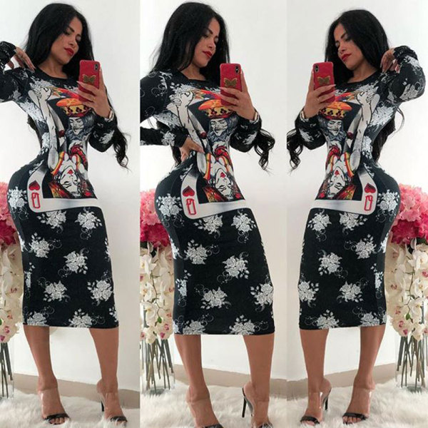 2357-5 women hot sell Multicolor printed dresses