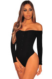 2379 Cotton v neck ladies' one-piece briefs rompers jumpsuit