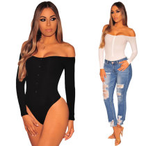 2379 Cotton v neck ladies' one-piece briefs rompers jumpsuit