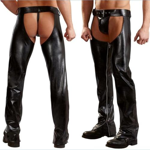 mens leather pants N935