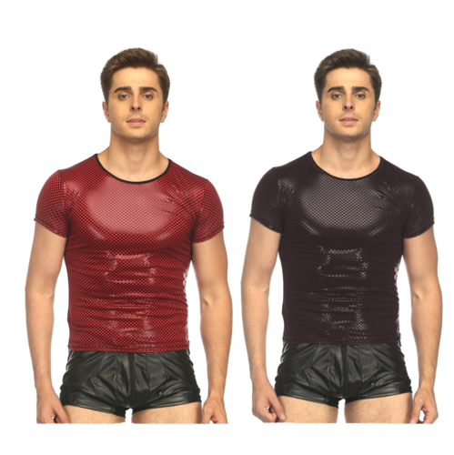 sexy men leather top N959