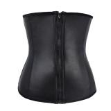 sexy latex zipper waist trainer 772