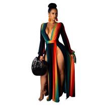 9235 women long sleeve sexy summer dress