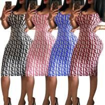 women cheaper printed dress 2416