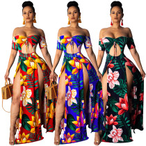 short sleeve strapless  summer dress G0185