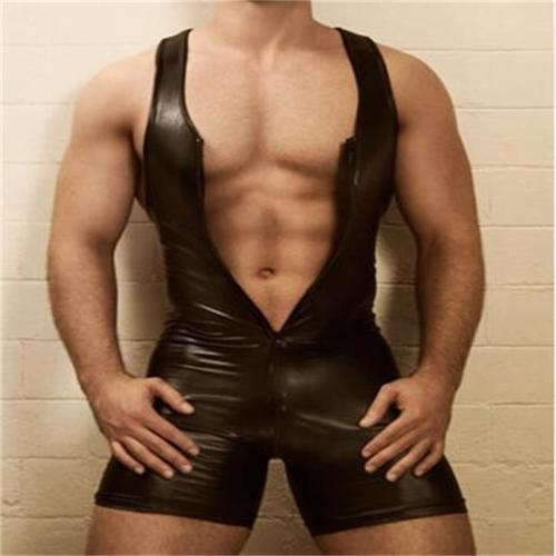 sexy men leather costume N973