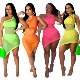plus size fashion mesh club dress CM554