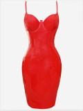 plus size pvc dress 9002