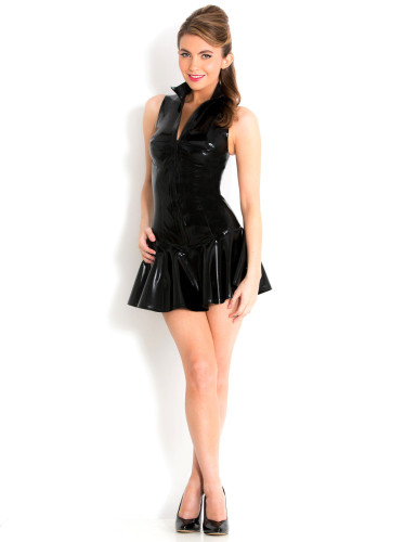 fashion  women pvc dress 8918
