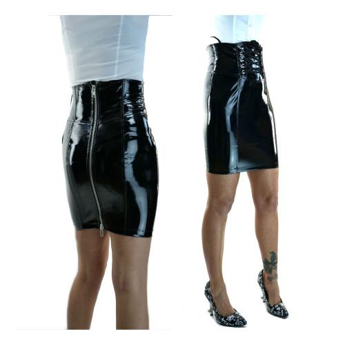 sexy pvc skirt 8936