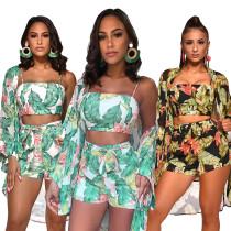 chiffon summer women three pcs set clothing Q235