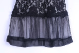 women lace see trought dress Q218