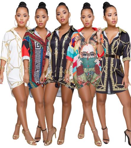 fashion long blouse dress 8842
