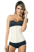 nude colour high quality latex waist trainer with latex hook C5019