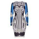 1874-1 sexy hot seller printed bodycon dress 1