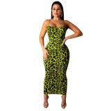 Sexy leopard print dress 3812