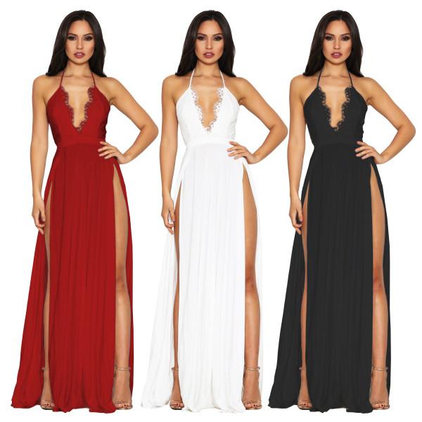 sexy women lace evening long dress G0218