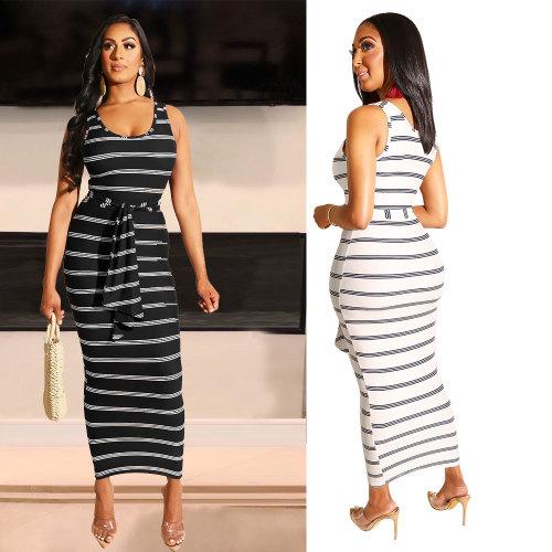 women sexy striped dress 2446