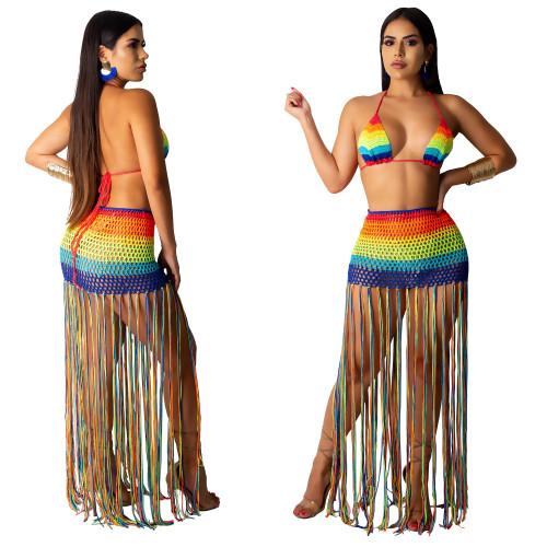 hand knitted beach dress Z051