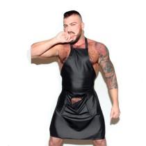 sexy men leather  apron N978