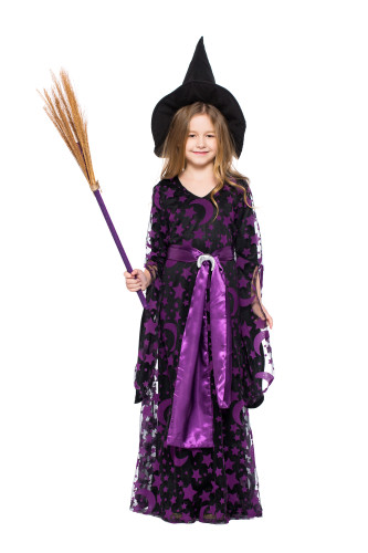 Children Purple Witch Dress Costume PS7207