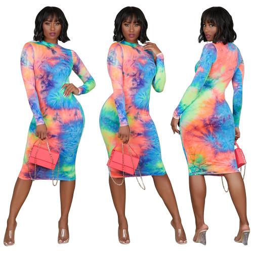 long sleeve women dress 2461a