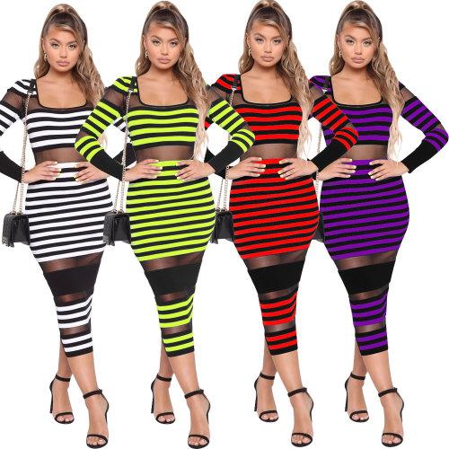 Mesh  sexy skinny dress 2476