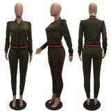 two pieces women jogger suit CM101