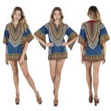 sexy mini printing dress 9383