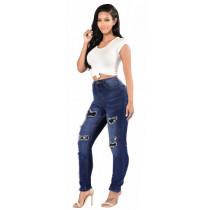 women hole jeans pants ck008