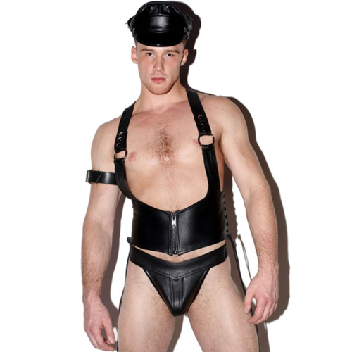 men leather PU lingerie N982