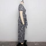 sexy printed dress 9437