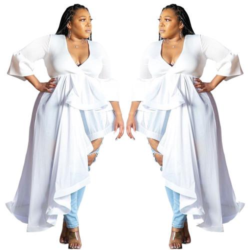 plus size v-neck dress 9501