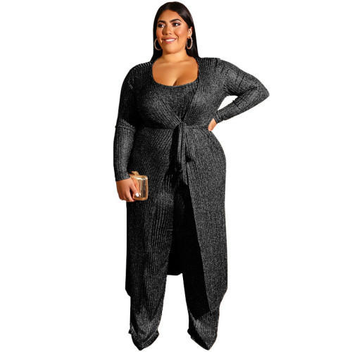plus size three piece women clothing 19390