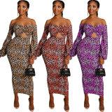 sexy leopard dress 2489