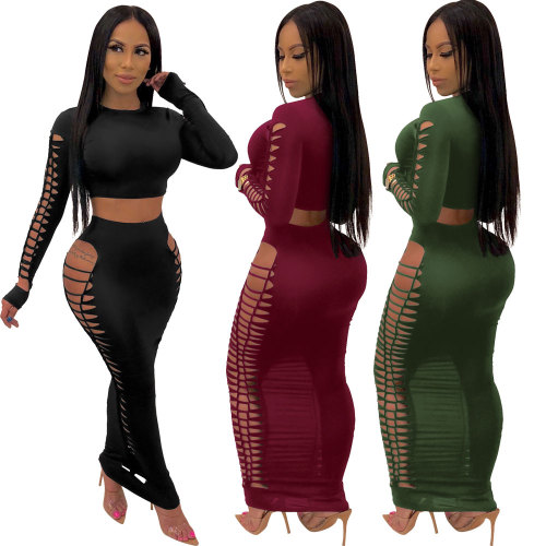 sexy two piece skirt set 2492