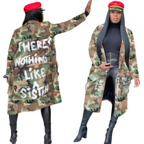 sexy camouflage long coat S3726