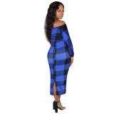 Ladies off shoulder dress 3909
