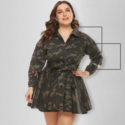 plus size women camo coat 19456