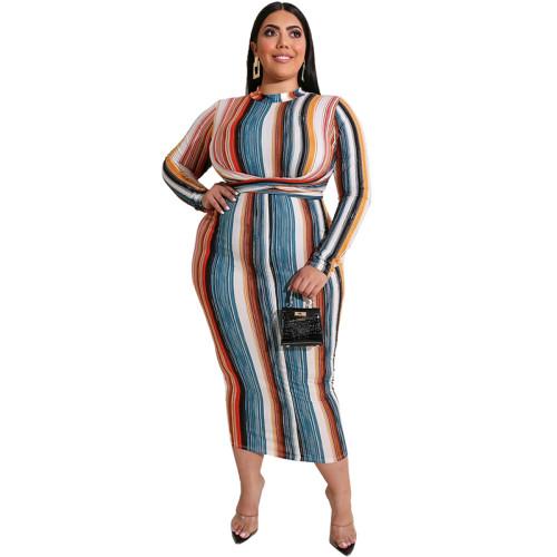 long sleeve women plus size dress 19541