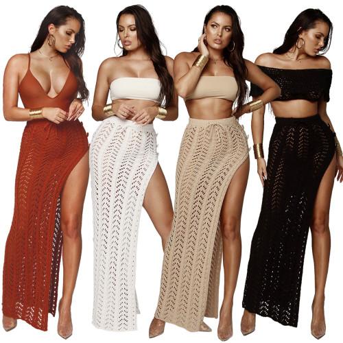 sexy knitted beach skirt Z028