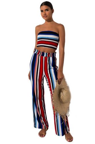 Summer stripe 2 pieces pant set N347